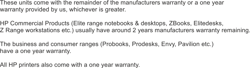Ex Demo Warranty