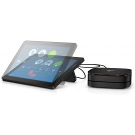 HP Elite Slice G2 Audio Ready with Zoom Rooms - USmall Form Factor - Core i5 7500T 2.7 GHz - vPro - 8 GB - SSD 128 GB - LCD 12.3in - 8EN91AW