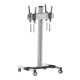 "Back-to-Back Tilting Vesa Floor Trolley Stand 32""-70"""