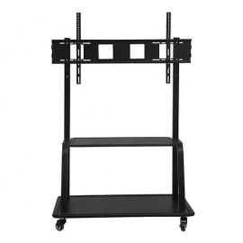 "Floor Trolley Vesa Stand with Shelf 55""-100"""